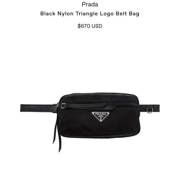 849dca65e8a03 Prada Bags | Black Triangle Logo Belt Bag | Poshmark